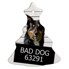 Bad Dog Christmas Tree Ornament (two Sides) by Valentinaart