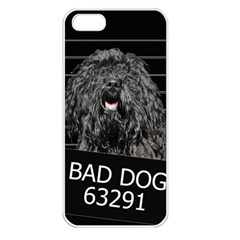 Bad Dog Apple Iphone 5 Seamless Case (white) by Valentinaart