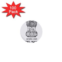 Seal Of Indian State Of Tripura 1  Mini Buttons (100 Pack)  by abbeyz71