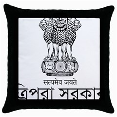 Seal Of Indian State Of Tripura Throw Pillow Case (black) by abbeyz71