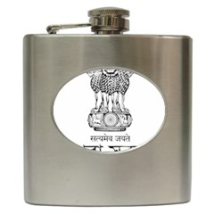 Seal Of Indian State Of Tripura Hip Flask (6 Oz) by abbeyz71