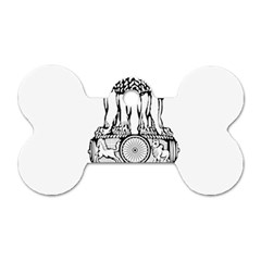 Seal Of Indian State Of Tripura Dog Tag Bone (two Sides) by abbeyz71
