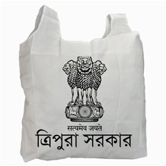 Seal Of Indian State Of Tripura Recycle Bag (two Side)  by abbeyz71