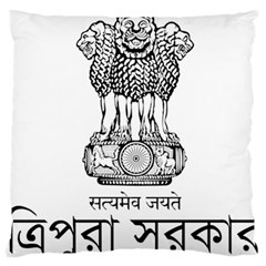 Seal Of Indian State Of Tripura Large Flano Cushion Case (two Sides) by abbeyz71