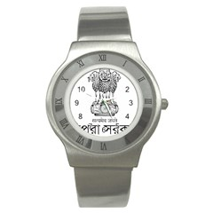 Seal Of Indian State Of Tripura Stainless Steel Watch by abbeyz71