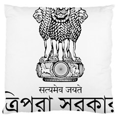 Seal Of Indian State Of Tripura Large Cushion Case (one Side) by abbeyz71