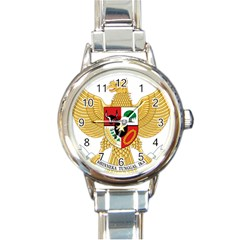 National Emblem Of Indonesia  Round Italian Charm Watch by abbeyz71