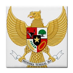 National Emblem Of Indonesia  Tile Coasters by abbeyz71