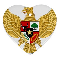 National Emblem Of Indonesia  Ornament (heart) by abbeyz71
