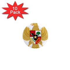 National Emblem Of Indonesia  1  Mini Magnet (10 Pack)  by abbeyz71