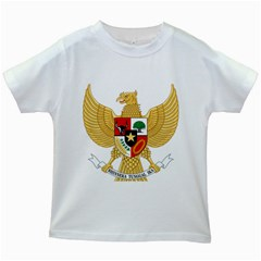 National Emblem Of Indonesia  Kids White T Shirts by abbeyz71