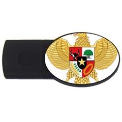 National Emblem Of Indonesia  Usb Flash Drive Oval (2 Gb) by abbeyz71