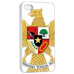 National Emblem Of Indonesia  Apple Iphone 4/4s Seamless Case (white) by abbeyz71