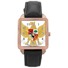 National Emblem Of Indonesia  Rose Gold Leather Watch  by abbeyz71