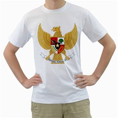 National Emblem Of Indonesia  Men s T Shirt (white)  by abbeyz71