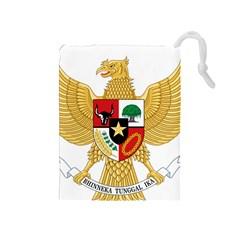 National Emblem Of Indonesia  Drawstring Pouches (medium)  by abbeyz71
