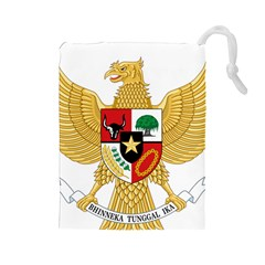 National Emblem Of Indonesia  Drawstring Pouches (large)  by abbeyz71