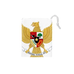 National Emblem Of Indonesia  Drawstring Pouches (xs)  by abbeyz71