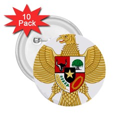 National Emblem Of Indonesia  2 25  Buttons (10 Pack)  by abbeyz71