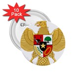 National Emblem of Indonesia  2.25  Buttons (10 pack)  Front