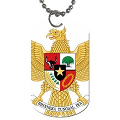 National Emblem Of Indonesia  Dog Tag (two Sides) by abbeyz71