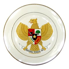 National Emblem Of Indonesia  Porcelain Plates by abbeyz71
