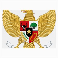 National Emblem Of Indonesia  Large Glasses Cloth by abbeyz71