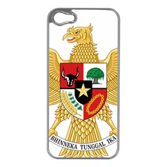 National Emblem Of Indonesia  Apple Iphone 5 Case (silver) by abbeyz71