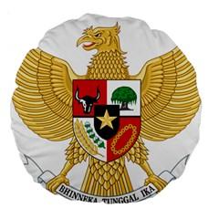 National Emblem Of Indonesia  Large 18  Premium Round Cushions by abbeyz71