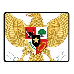 National Emblem Of Indonesia  Double Sided Fleece Blanket (small)  by abbeyz71