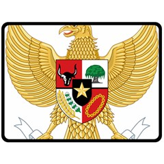 National Emblem Of Indonesia  Double Sided Fleece Blanket (large)  by abbeyz71