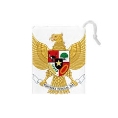National Emblem Of Indonesia  Drawstring Pouches (small)  by abbeyz71