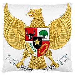 National Emblem Of Indonesia  Standard Flano Cushion Case (two Sides) by abbeyz71