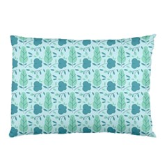 Flowers And Leaves Pattern Pillow Case by TastefulDesigns