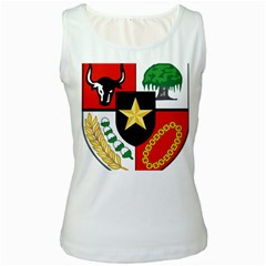 Shield Of National Emblem Of Indonesia Women s White Tank Top by abbeyz71