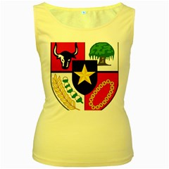 Shield Of National Emblem Of Indonesia Women s Yellow Tank Top by abbeyz71