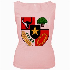 Shield Of National Emblem Of Indonesia Women s Pink Tank Top by abbeyz71
