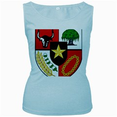 Shield Of National Emblem Of Indonesia Women s Baby Blue Tank Top by abbeyz71