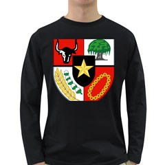 Shield Of National Emblem Of Indonesia Long Sleeve Dark T Shirts by abbeyz71