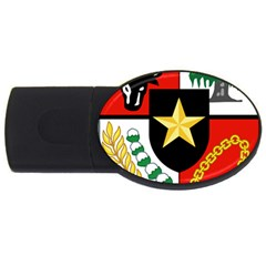 Shield Of National Emblem Of Indonesia Usb Flash Drive Oval (4 Gb) by abbeyz71