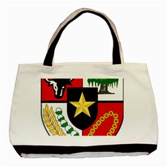Shield Of National Emblem Of Indonesia Basic Tote Bag by abbeyz71