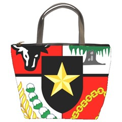 Shield Of National Emblem Of Indonesia Bucket Bags by abbeyz71