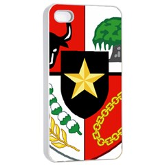 Shield Of National Emblem Of Indonesia Apple Iphone 4/4s Seamless Case (white) by abbeyz71