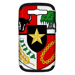 Shield Of National Emblem Of Indonesia Samsung Galaxy S Iii Hardshell Case (pc+silicone) by abbeyz71