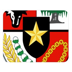 Shield Of National Emblem Of Indonesia Double Sided Flano Blanket (large)  by abbeyz71