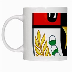 Shield Of National Emblem Of Indonesia  White Mugs