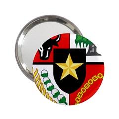 Shield Of National Emblem Of Indonesia  2 25  Handbag Mirrors by abbeyz71