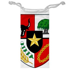 Shield Of National Emblem Of Indonesia  Jewelry Bag by abbeyz71
