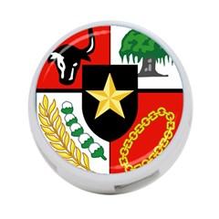 Shield Of National Emblem Of Indonesia  4 Port Usb Hub (one Side) by abbeyz71