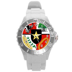 Shield Of National Emblem Of Indonesia  Round Plastic Sport Watch (l) by abbeyz71
